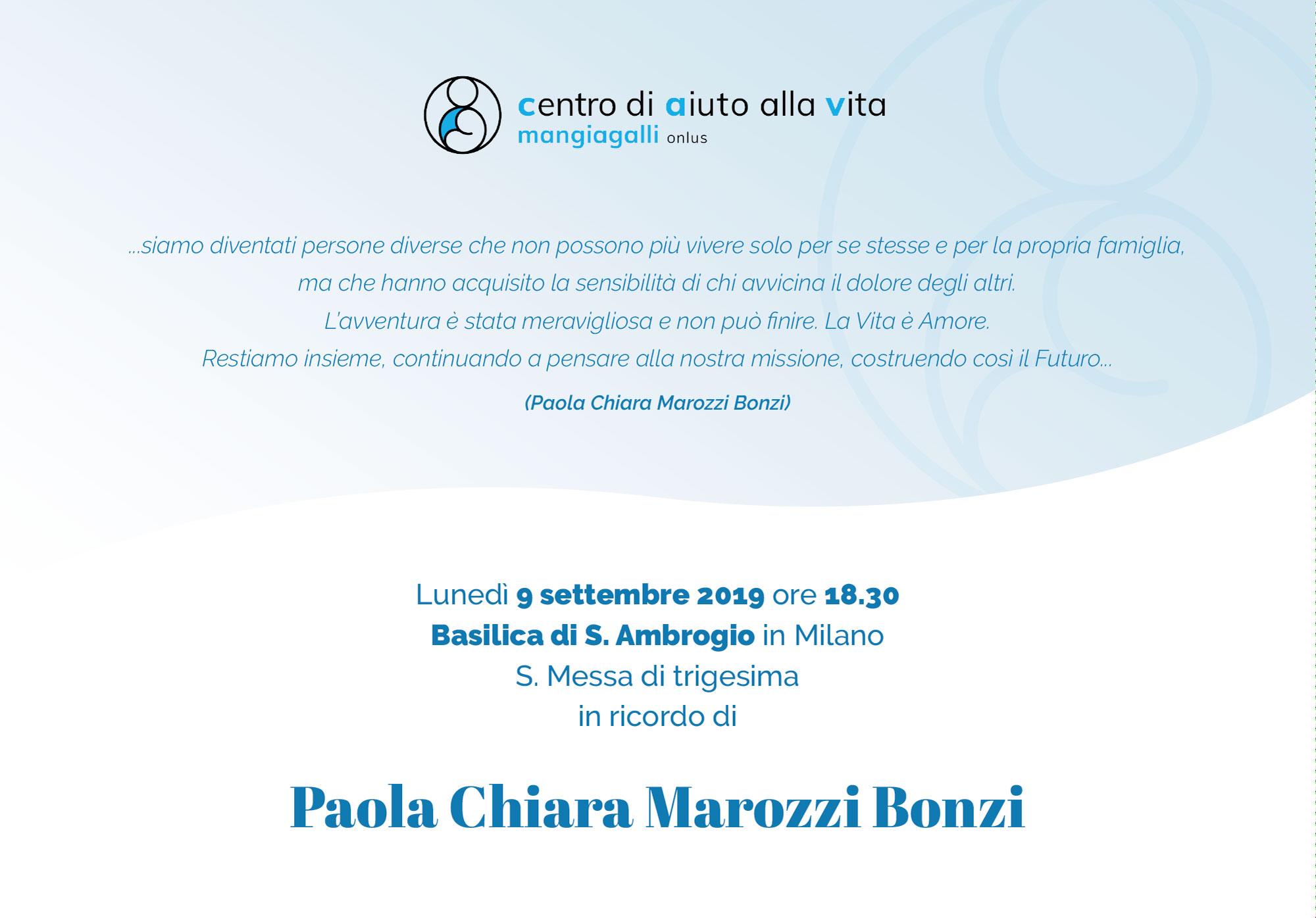 Messa in ricordo di Paola Bonzi
